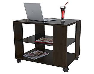 Стол журнальный Мебелик BeautyStyle 5 венге/стекло черное