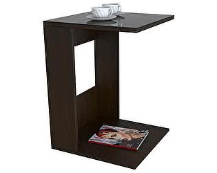 Стол журнальный Мебелик BeautyStyle 3 венге/стекло черное