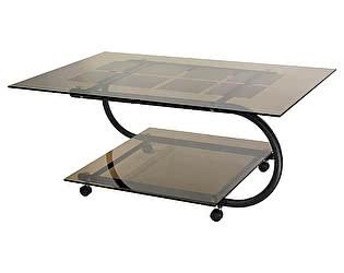 Стол журнальный Мебелик Дуэт 10 чёрный/ тонированное