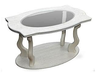 Стол журнальный Мебелик Берже 3С белый ясень
