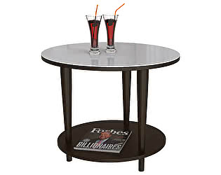 Стол журнальный Мебелик BeautyStyle 10 венге/стекло белое