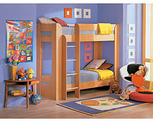 Кровать двухъярусная с матрасами Элегия