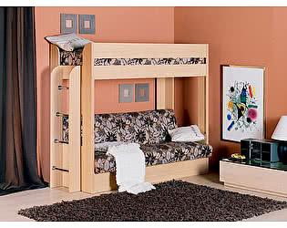 Кровать двухярусная с диваном и матрасом Элегия