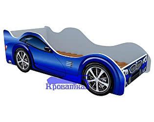 Кровать-машина  БМВ синяя