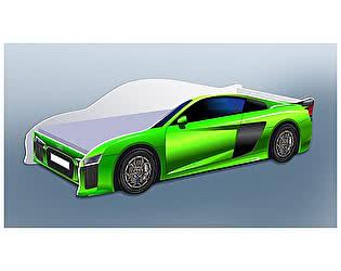 Кровать-машина  Ауди зеленая