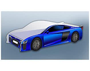 Кровать-машина Ауди синяя