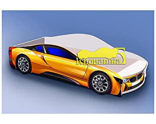 Кровать-машина БМВ желтая