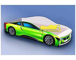 Кровать-машина БМВ зеленая