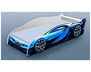Кровать-машина Бугатти синяя