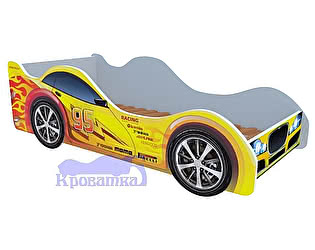 Кровать-машина Желтая молния