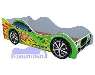 Кровать-машина Зеленый форсаж