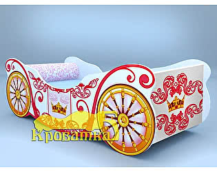 Кроватка-карета Корона белая