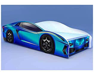 Кровать-машина Ламбо голубая