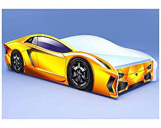Кровать-машина Ламбо жёлтая
