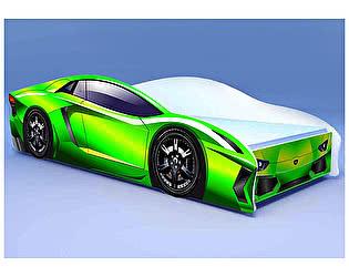 Кровать-машина Ламбо зелёная