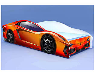 Кровать-машина Ламбо оранжевая