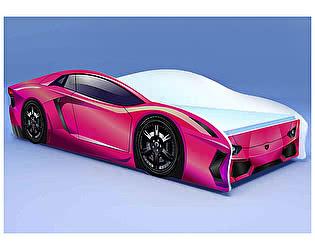 Кровать-машина Ламбо розовая