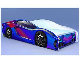 Кровать-машина Ламбо фиолетовая