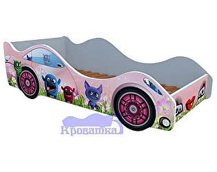 Кровать-машина лесные зверюшки