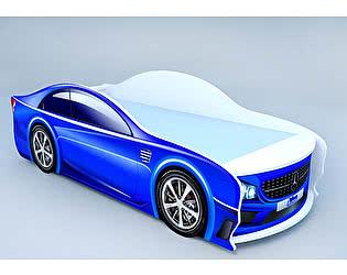Кровать-машина Мерседес синий