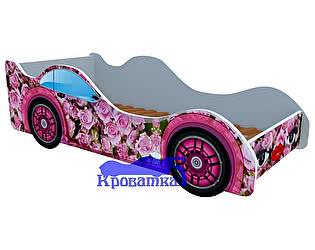 Кровать-машина Розовые розы