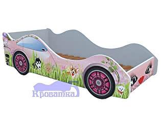 Кровать-машина собачки на лужайке