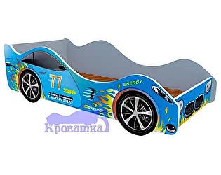 Кровать-машина Спорт голубая