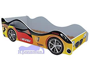 Кровать-машина Спорт желтая