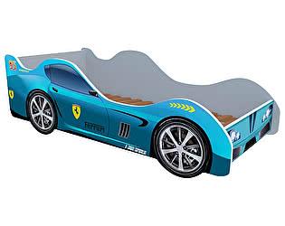 Кровать-машина Феррари голубая