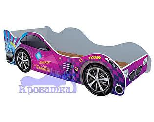 Кровать-машина Форсаж фиолетовый