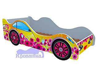Кровать-машина Цветочная поляна