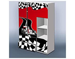 Шкаф Кроватка5 Гонка красный