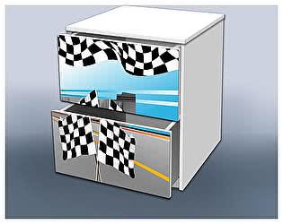 Тумба Кроватка5 Гонка с ящиками голубая 2