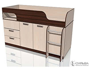 Кровать Сильва Рико НМ 011.55 с поворотным столом Дуб Тортона