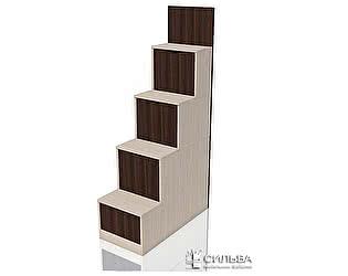 Лестница Сильва Рико НМ 011.64 с ящиками Дуб тортона