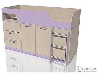 Кровать с поворотным столом Сильва Рико Модерн НМ 011.55