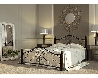 Купить кровать Mebwill Фортуна 1 Черный - шоколад