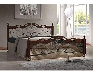 Купить кровать МИК Мебель Helen MK-5233-RO Темная вишня 200х160