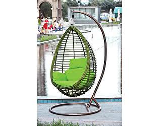 Купить кресло МИК Мебель Подвесное кресло MK-3632-GW Коричневый/зеленый