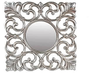 Купить зеркало МИК Мебель Carved MK-3234-SA Серебряный