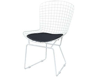 Купить стул МИК Мебель Стул Рэй с подушкой MK-5631-BL Белый/Черный