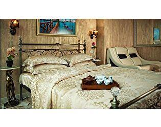 Кровать с кристаллами 9801 L n000960 (140х200), MK 2210 AB