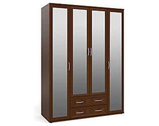 Шкаф Мебельный двор ШК-5 для одежды и белья 4-х дверный четыре зеркала