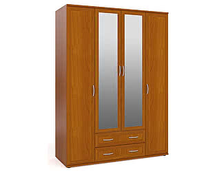 Шкаф Мебельный двор ШК-5 для одежды и белья 4-х дверный два зеркала