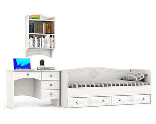 Детская Мебельный двор Онега Компоновка 01 МД-1-06 + ПК-1 + КР-800