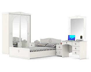 Спальня Мебельный двор Онега Компоновка 11 ШК-К2 + ТП-1 + КР-1400 + ТП-1 + МД-1-06 + ЗН-1