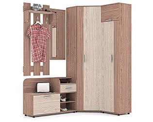 Прихожая Мебельный двор Пэ Пять(П5) Компоновка № 7 Тумба 1050+Зеркало в раме+Вешалка 600+Шкаф угл.+Ш