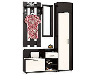 Прихожая Мебельный двор Пэ Пять(П5) Компоновка № 4 Тумба 1050+Зеркало в раме+Вешалка 600+Шкаф платян