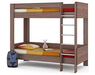 Двухъярусная кровать Mobi Ника 438М, ясень шимо тёмный