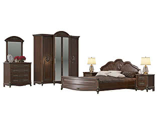 Спальня Мэри-Мебель Да Винчи 01 СД-05 + СД-06 + СД-01 + СД-03 + СД-02 + СД-03